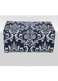 Damask Floral Table Square Overlay