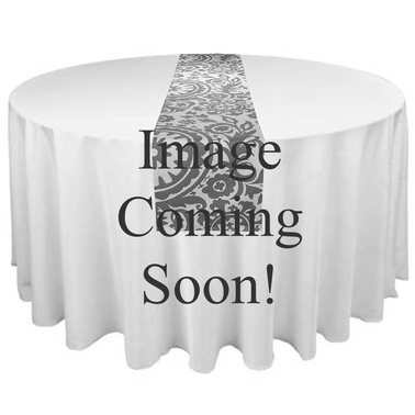 Gray floral Table runner