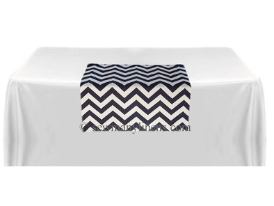 Navy Blue Chevron Table square overlay