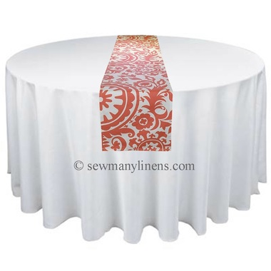 Coral Floral Table Runner