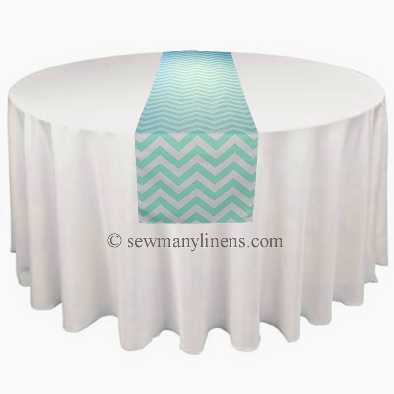 Mint Green Chevron Table Runner