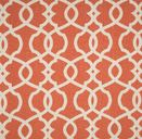Quatrefoil Orange Curtains