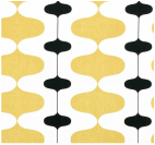 Yellow geometric overlay