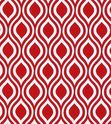 Red geometric tablecloth