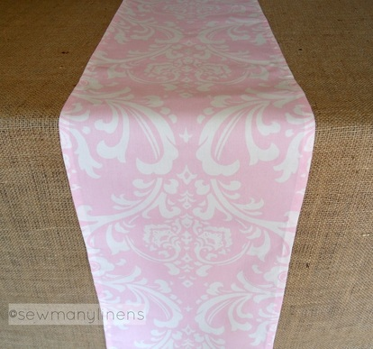 Pink Floral Table Runner